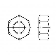 DIN 934 Гайка М12 шестигранная, латунь, никель