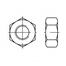Din 934 Гайка М6  шестигранная, алюминий