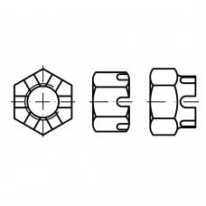 DIN 935 Гайка М5 корончатая, сталь