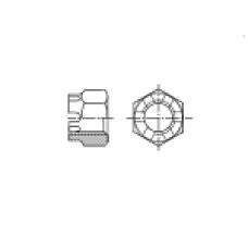 DIN 935 Гайка М8 корончатая, сталь нержавеющая А4