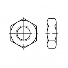 DIN 936 Гайка М12* 1,5 низкая, шестигранная, латунь