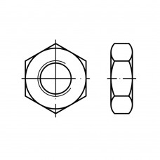 DIN 936 Гайка М27 низкая, шестигранная, сталь нержавеющая А2