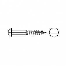 DIN 96 Шуруп 4,5* 25 с полукруглой головкой, прямой шлиц, латунь