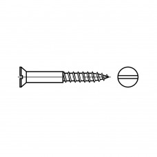 DIN 97 Шуруп 3* 25 по дереву потай шлиц, латунь, никель