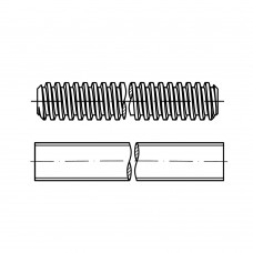 DIN 975 Шпилька 2,5* 1000 резьбовая, сталь 5.8, цинк