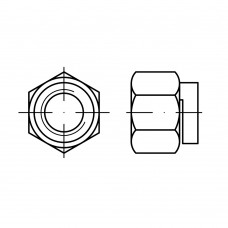 DIN 980 Гайка 12 шестигранная, самоконтрящаяся, сталь нержавеющая А2