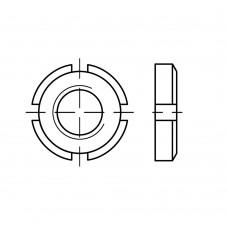 DIN 981 Гайка 20* 1 круглая, шлицевая, сталь