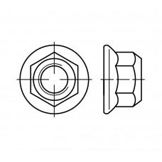 EN 1664 Гайка 8 шестигранная с пластиковой вставкой, сталь 8.8, цинк