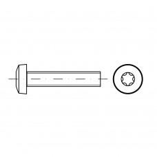 ISO 14583 Винт 3* 20 цилиндр TORX, сталь нержавеющая А2