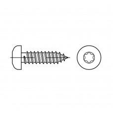 ISO 14585 Саморез 4,8* 25 с округленной головкой TORX, сталь нержавеющая А2