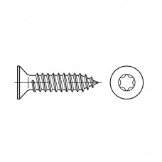 ISO 14586 Саморез 6,3* 25 потай,TORX, сталь нержавеющая А2