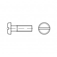 ISO 1580 Винт 4* 35 с полукруглой головкой прямой шлиц, латунь