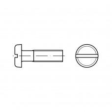 ISO 1580 Винт 5* 30 с полукруглой головкой прямой шлиц, латунь
