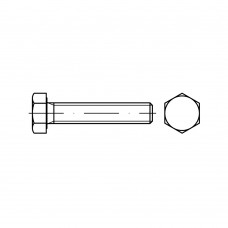 ISO 4017 Болт 5* 60 высокопрочный полная резьба, латунь