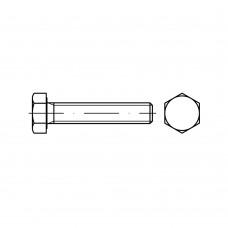ISO 4017 Болт 8* 20 высокопрочный полная резьба, латунь