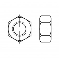 ISO 4032 Гайка 4 шестигранная, латунь, никель, хром