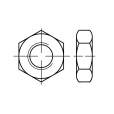ISO 4035 Гайка 5 шестигранная, низкая, с фаской, сталь нержавеющая А2