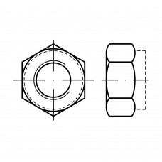 ISO 7042 Гайка 5 самоконрящаяся, сталь нержавеющая А4