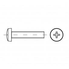 ISO 7045 Винт 10* 12 c полукруглой головкой крестообразный шлиц PH, сталь нержавеющая А2
