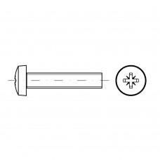 ISO 7045 Винт 5* 6 c полукруглой головкой крестообразный шлиц PZ, сталь нержавеющая А2