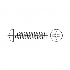 ISO 7049 Саморез 5,5* 50 с полукруглой головкой крестообразный шлиц PH, сталь нержавеющая А2