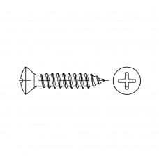 ISO 7051 Саморез 3,5* 22 полупотай крестообразный шлиц PH, сталь нержавеющая А2