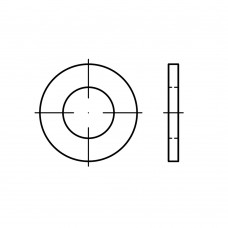 ISO 7089 Шайба 36 плоская без фаски, сталь нержавеющая А2