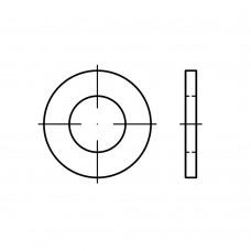 ISO 7089 Шайба 4 плоская без фаски, алюминий