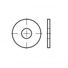 ISO 7093-1 Шайба 10 плоская, увеличенная, сталь нержавеющая А5