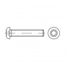 ISO 7380-1 Винт 10* 25 полукруг внутренний шестигранник, сталь нержавеющая А2