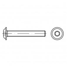 ISO 7380-2 Винт 5* 10 полукруг внутренний шестигранник, сталь 10.9, цинк