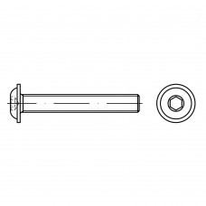 ISO 7380-2 Винт 8* 16 полукруг внутренний шестигранник, сталь 10.9