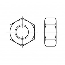 ISO 8673 Гайка 10* 1,25 шестигранная с мелкой резьбой, сталь нержавеющая А2
