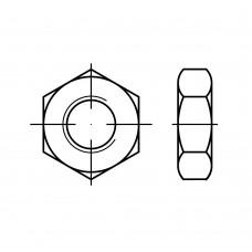 ISO 8675 Гайка 30 шестигранная с мелкой резьбой, сталь нержавеющая А4