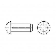 ISO 8746 Штифт 3* 6 насеченый с полукруглой головкой, латунь