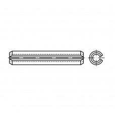 ISO 8752 Штифт 2,5* 22 пружинный цилиндрический, сталь нержавеющая 1.4310