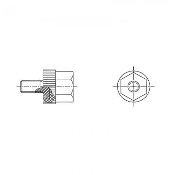 55М5 Гайка, полистирол/сталь