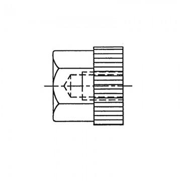 65М4 Гайка, полистирол/латунь