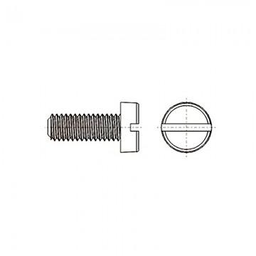 8G201 Винт М4* 8 цилиндр, прямой шлиц, нейлон