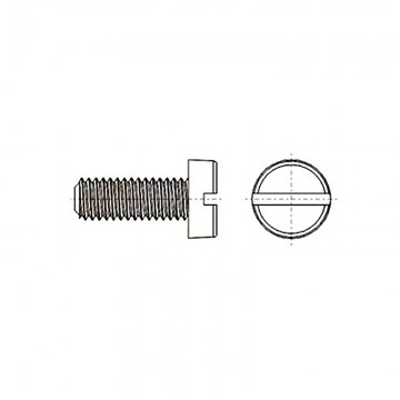 8G201 Винт М6* 12 цилиндр, прямой шлиц, нейлон