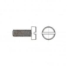 8G201 Винт М6* 16 цилиндр, прямой шлиц, нейлон