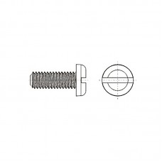 8G204 Винт М2,5* 16 полу цилиндр, прямой шлиц, нейлон