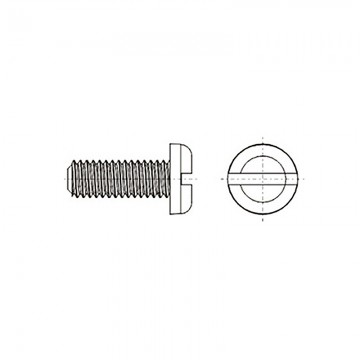 8G204 Винт М3* 8 полу цилиндр, прямой шлиц, нейлон