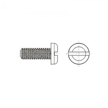 8G204 Винт М4* 20 полу цилиндр, прямой шлиц, нейлон