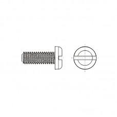 8G204 Винт М4* 8 полу цилиндр, прямой шлиц, нейлон