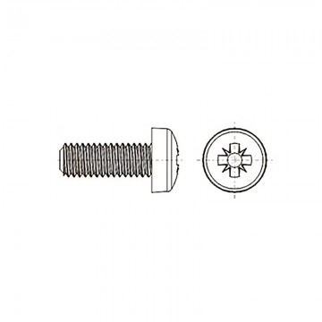 8G205 Винт М4* 6 полу цилиндр, крестовой шлиц, нейлон