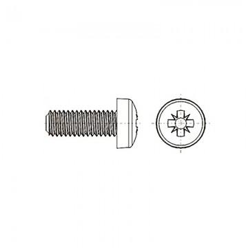 8G205 Винт М4* 8 полу цилиндр, крестовой шлиц, нейлон