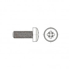 8G205 Винт М5* 16 полу цилиндр, крестовой шлиц, нейлон