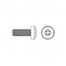 8G205 Винт М6* 25 полу цилиндр, крестовой шлиц, нейлон