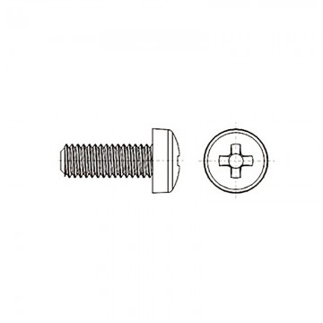 8G206 Винт М4* 12 цилиндр, крестовой шлиц, нейлон